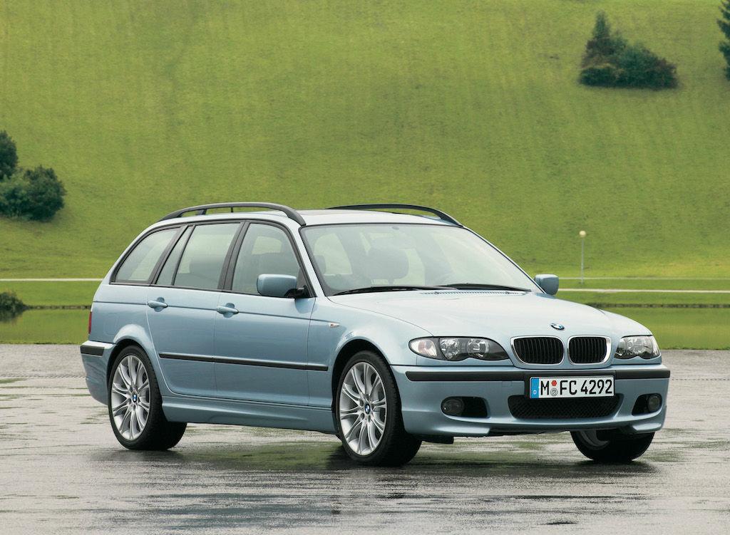 "BMW 3er Touring ""Edition 33"" der Generation E46 (Facelift) mit BMW M Sportpaket."