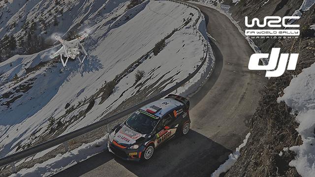Zuletzt kamen DJI-Drohnen auf der Rallye Monte Carlo 2016 zum Einsatz.
