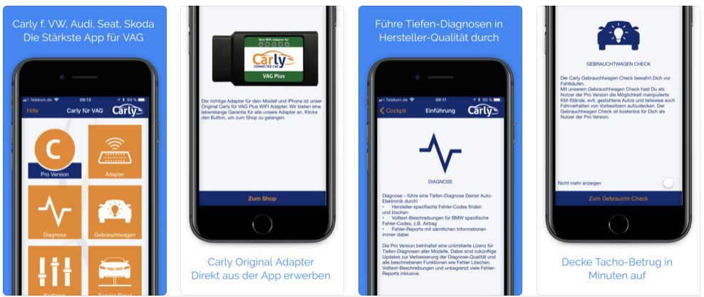 AG Carly App - Funktionen