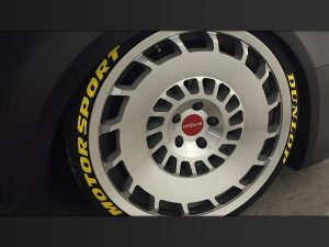 Reifenaufkleber Dunlop Motorsport Reifenbeschriftung