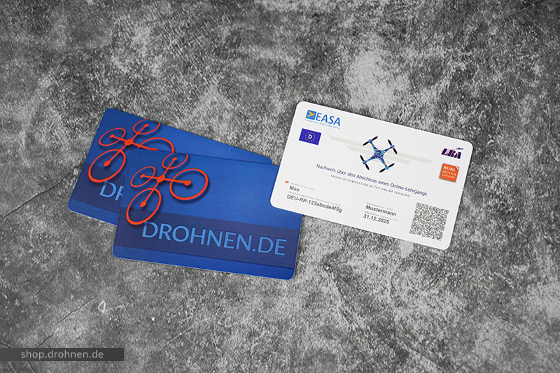 EU-Drohnenführerschein im Scheckkartenformat