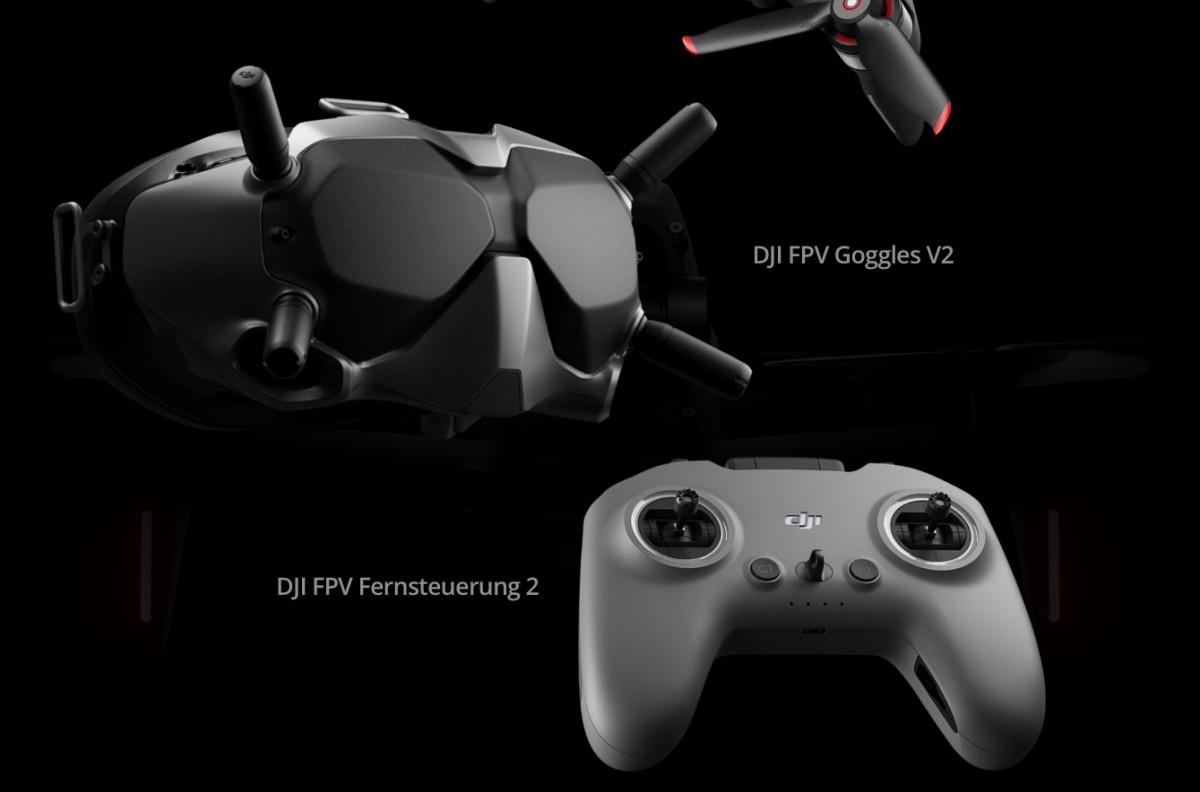 DJI FPV Videobrille und Fernsteuerung