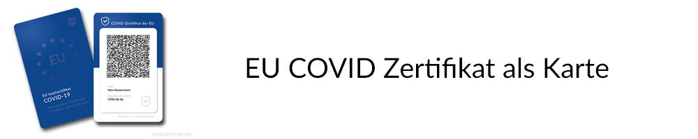 EU Covid Zertifikat als Karte